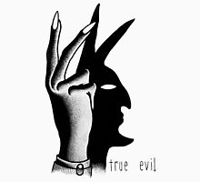 TRUE EVIL (WHITE) Men's Baseball ¾ T-Shirt