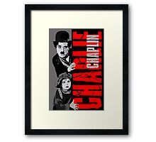 Charlie Chaplin with the kid sneak a peek Framed Print
