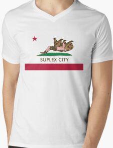 Suplex City WHITE BACKGROUND Mens V-Neck T-Shirt