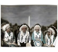 National Monuments - Four Chiefs on the Mall Poster