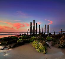 Port Willunga Sunset by Bill  Robinson