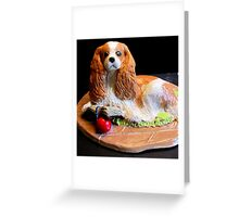 Isabella a Literary Cavalier King Charles Spaniel Greeting Card
