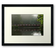 I've crossed the ocean, turned every bend.. I found the crossing near a golden rainbow's end... I've been through magic and through life's reality Framed Print