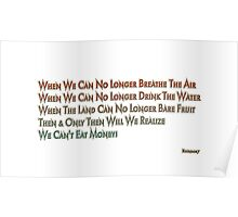 You Can't Eat Money Poster