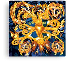 Exploded Phone booth Digital painting Canvas Print