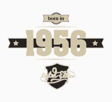 Born in 1956 (Cream&Choco) One Piece - Long Sleeve