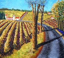 Cognac Vineyards by Christopher  Raggatt