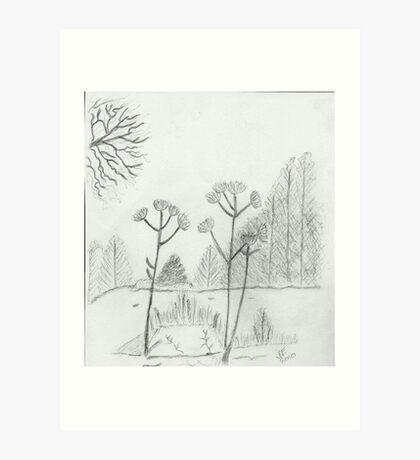 Winter scene  Art Print