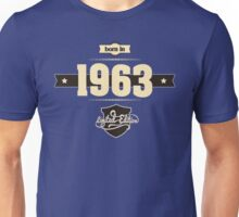 Born in 1963 (Cream&Choco) Unisex T-Shirt