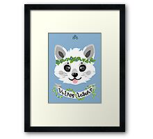 Stellified - Arctic Fox Framed Print