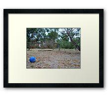 Little Blue Ball Framed Print