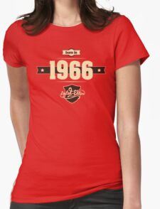 Born in 1966 (Cream&Choco) Womens Fitted T-Shirt