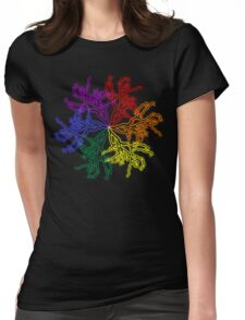 Nature Colour Wheel Womens Fitted T-Shirt