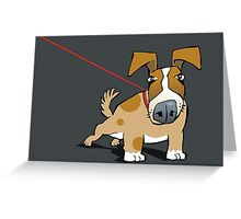 on a tight leash Greeting Card