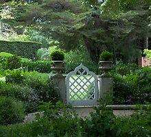 Garden gate at Kennerton Green, near Bowral, NSW by BronReid