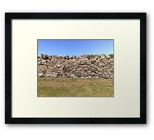 Earth. Wall. Sky. Framed Print