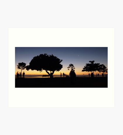 Early morning silhouettes Art Print