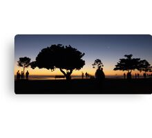 Early morning silhouettes Canvas Print