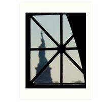 Liberty Window (New York) Art Print