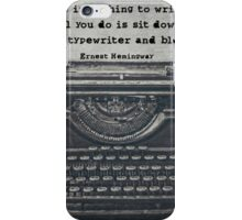Writing According to Hemingway iPhone Case/Skin