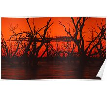 Menindee Sunset Poster