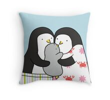 Penguin Family Throw Pillow