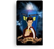 Time and Space Traveller with Banana Canvas Print