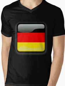 Germany Flag Icon Mens V-Neck T-Shirt