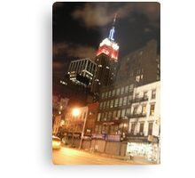 The Empire State in the Red White and Blue (NYC) Metal Print