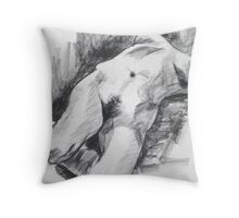 Life drawing 1, 4th Feb Throw Pillow