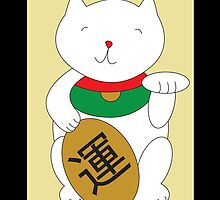 Maneki Neko Luck and Good Fortune  by ValeriesGallery