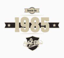 Born in 1985 (Cream&Choco) One Piece - Short Sleeve