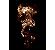 Flaming Smoke Photographic Print