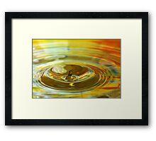 Droplet #11 Framed Print