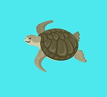 Happy Kemp's Ridley Sea Turtle by PepomintNarwhal