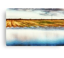 Flooded Field HDR Canvas Print