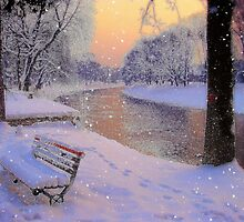 Winter bench.. by Eugenio