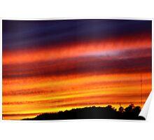 Orange Sky - Banding Clouds Poster