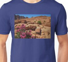 Carvings And Flowers At Petra Unisex T-Shirt