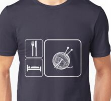 Eat Sleep Knitting Unisex T-Shirt