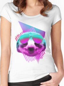 80's sloth Women's Fitted Scoop T-Shirt
