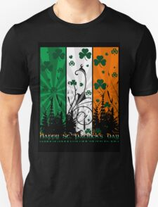 Saint Patrick's Day T Shirt With Irish Flag Colours T-Shirt