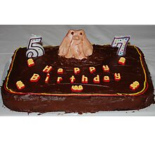 Husbands Groundhog Birthday Cake Photographic Print