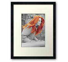 Karen With Hair Like Fire Framed Print