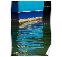 Blue reflection-Weymouth Harbour Poster