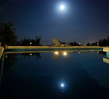 Moon-lit pool time, the summer house by Jessica Hardie