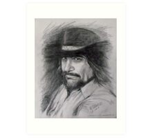 Waylon Jennings  Art Print