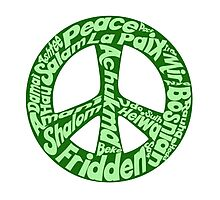 Green peace sign world languages  Photographic Print