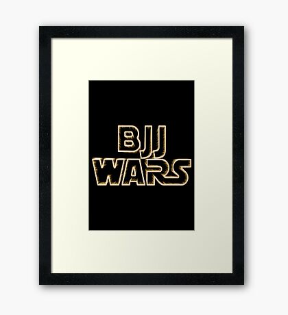 Brazilian Jiu Jitsu Wars Framed Print
