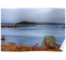 Frozen lake in Glen Coe Poster